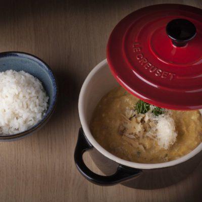 Aji de pollo de corral, nueces y comté